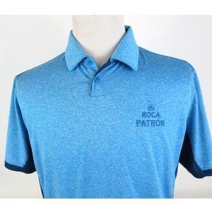 Nike Golf Medium Dri Fit Polo Shirt Heathered Blue